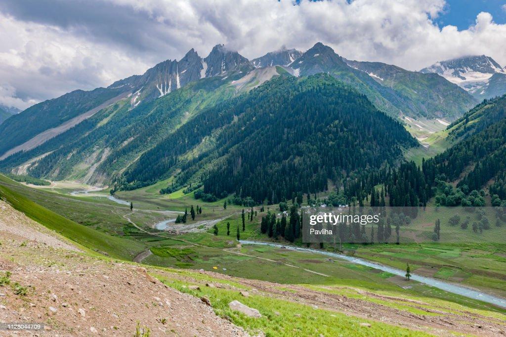 View of the mountainous landscape of the Himalayas,,Zozila Pass,Jammu and Kashmir, Ladakh Region, Tibet,India, : Stock Photo