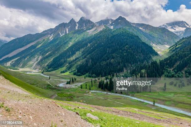 view of the mountainous landscape of the himalayas,,zozila pass,jammu and kashmir, ladakh region, tibet,india, - kashmir stock photos and pictures