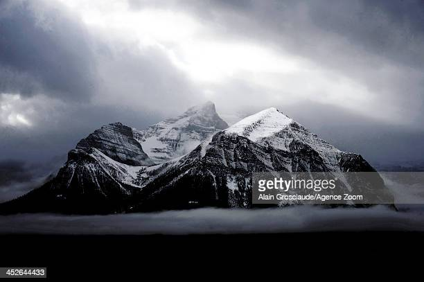 A view of the mountains of Lake Louise during the Audi FIS Alpine Ski World Cup Men's Downhill on November 30 2013 in Lake Louise Canada
