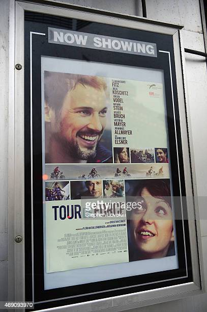 A view of the movie poster at the KINO New York Film Festival opening night at Tribeca Cinemas on April 9 2015 in New York City