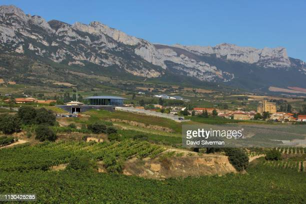 A view of the multilevel Bodegas Baigorri gravitational winery on September 28 2018 in Samaniego Spain Baigorri which sits on the foothills of the...