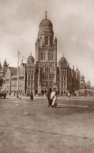 A view of the Municipal Corporation Building in Mumbai...