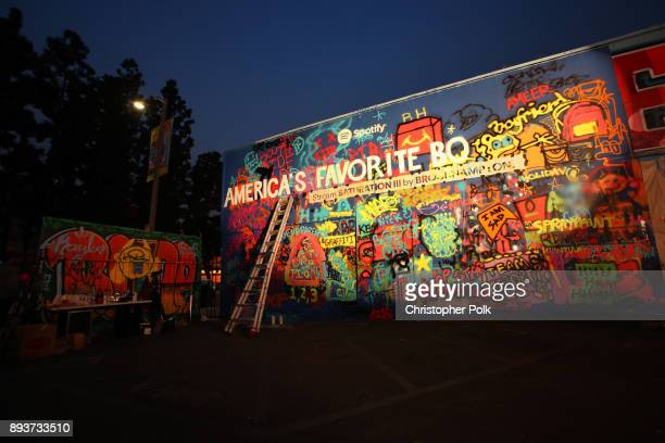 A view of the mural painted at BROCKHAMPTON and Spotify host an event for their biggest fans to celebrate the launch of their new album SATURATION...