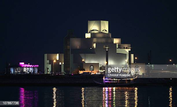 View of the museum of islamic art is taken on January 4 2011 in Doha Qatar The International Monetary Fund recently reiterated its projection for the...