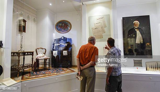 A view of the museum where displayed the assassination of Archduke Franz Ferdinand of Austria and his wife Duchess Sophie by Serbian nationalist...