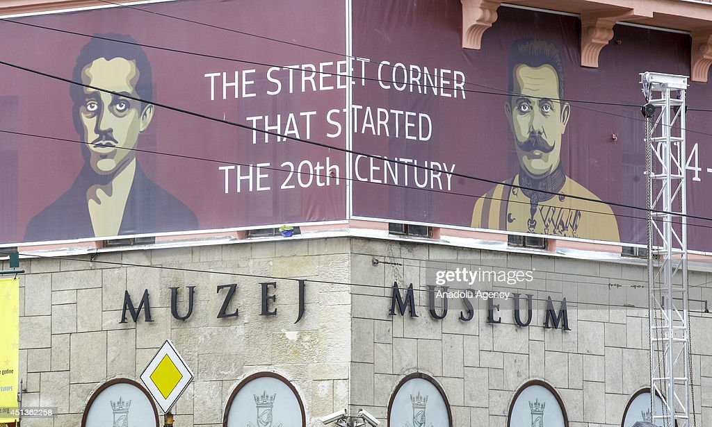 The commemorating of Archduke Franz Ferdinand assassination : News Photo