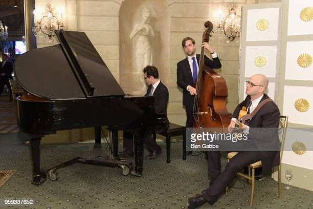 A view of the musical accompanyment during the National Eating Disorders Association Annual Gala 2018 at The Pierre Hotel on May 16 2018 in New York...