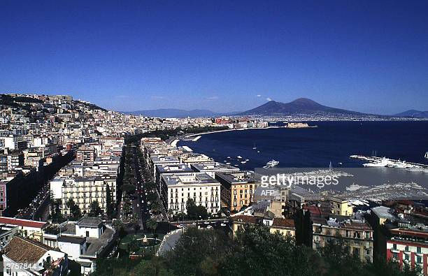 View of the Naples' gulf taken 20 November 2003 from the Posillipo hill. The Italian southern city of Naples is one of the candidate locations to...