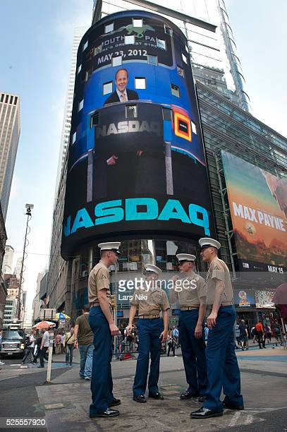 View of the NASDAQ MarketSite Tower in Times Square in New York City Facebook and a number of banks are being sued by Facebook shareholders for...