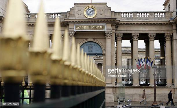 A view of the National Assembly the lower house of the French Parliament at Palais Bourbon on November 3 2011 in Paris France The National Assembly...