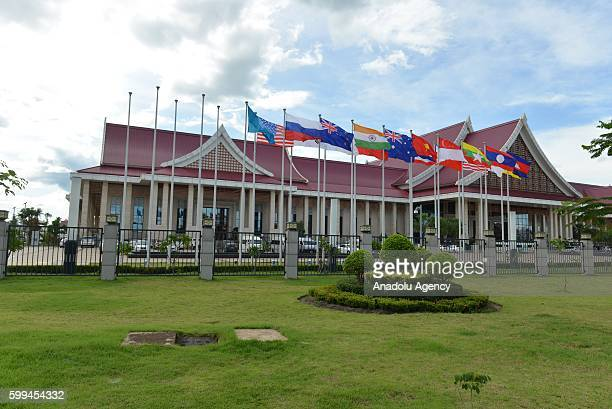 A view of the National Convention Center where the ASEAN Summits will be held in Vientiane Laos on September 3 2016 Vientiane capital of Laos will...