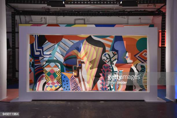 """View of the National Geographic """"Genius: Picasso"""" Tribeca Film Festival after party at The Genius Studio, 100 Avenue of the Americas, in New York..."""