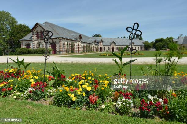 A view of the national stud farm of SaintLo The current buildings were erected between 1882 and 1890 on a site of about 750 hectares The site was...
