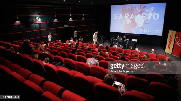A view of the National Theatre during the press conference ahead of 23rd Sarajevo Film Festival which will be held on August 1118 in Sarajevo Bosnia...