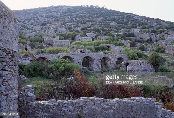 View of the necropolis of Anthurium Turkey Roman civilisation 1st4th century AD