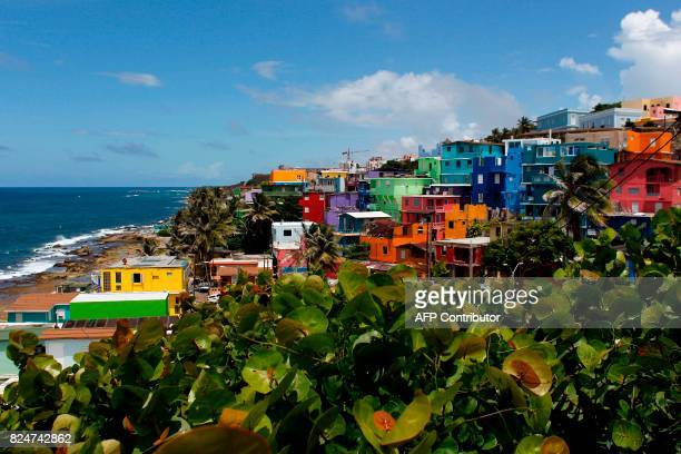 A view of the neighbourhood of La Perla where the video Despacito was recorded in San Juan on July 22 2017 Something unusual is happening in La Perla...