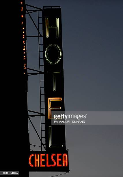 A view of the neon sign adorning the front facade of the Chelsea Hotel in New York January 10 2011 The Chelsea Hotel a haven for struggling artists...