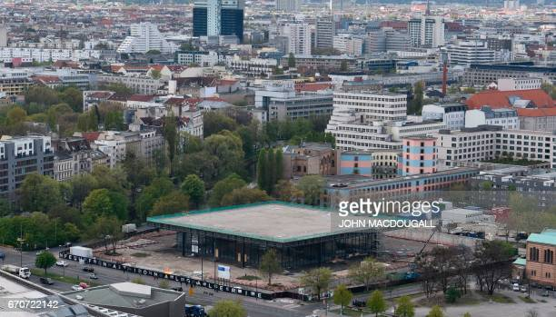 View of the Neue Nationalgalerie museum in Berlin on April 20 2017 Designed by GermanAmerican architect Ludwig Mies van der Rohe and built in 1968 it...