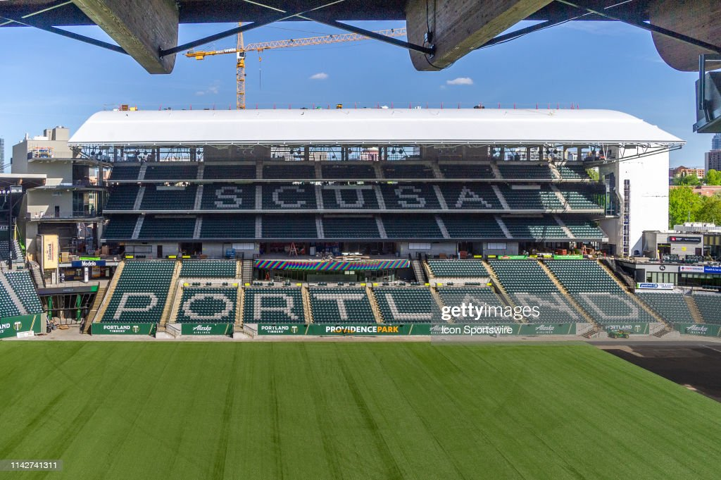 SOCCER: MAY 07 MLS - Portland Timbers Providence Park Expansion : News Photo