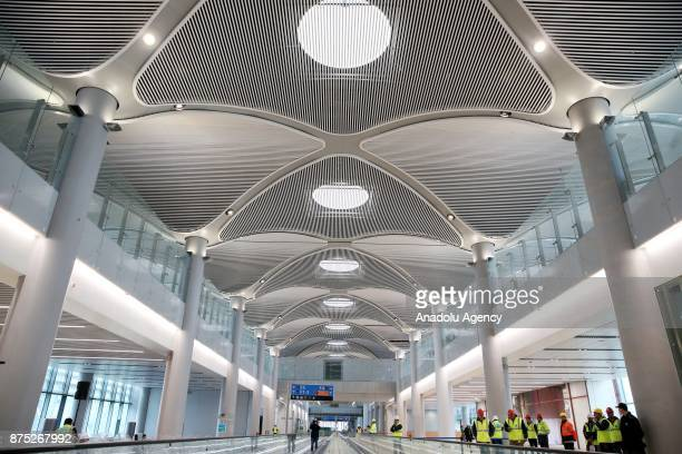 A view of the new airport's terminal building as construction works continue for the Istanbul's third airport on November 17 Istanbul Turkey