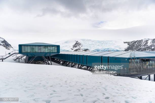 View of the New Brazilian Antarctic Station Comandante Ferraz, on November 05, 2019 in King George Island, Antarctica.