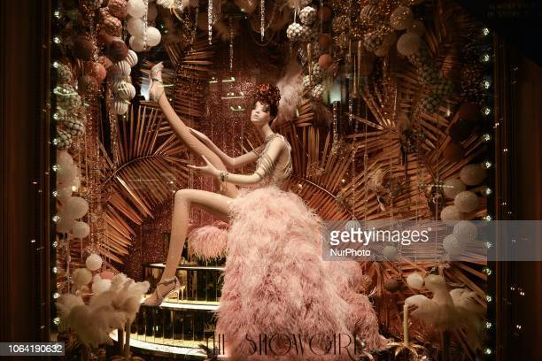 View of the new Brown Thomas Christmas Season window display The Showgirl. Brown Thomas unveiled their ever-so-sophisticated eight-window display...