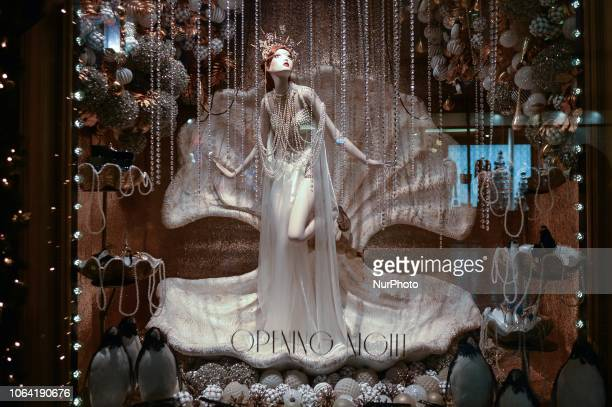 View of the new Brown Thomas Christmas Season window display the Pearl Girl. Brown Thomas unveiled their ever-so-sophisticated eight-window display...