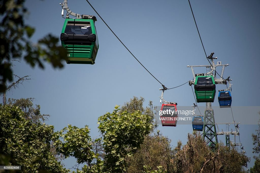 CHILE-CABLE CAR : News Photo