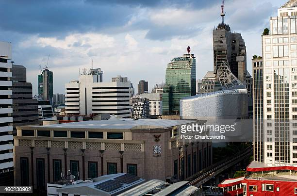 A view of the new Central Embassy building the Central Group's latest offering into the already crowded Bangkok retail store market with the...