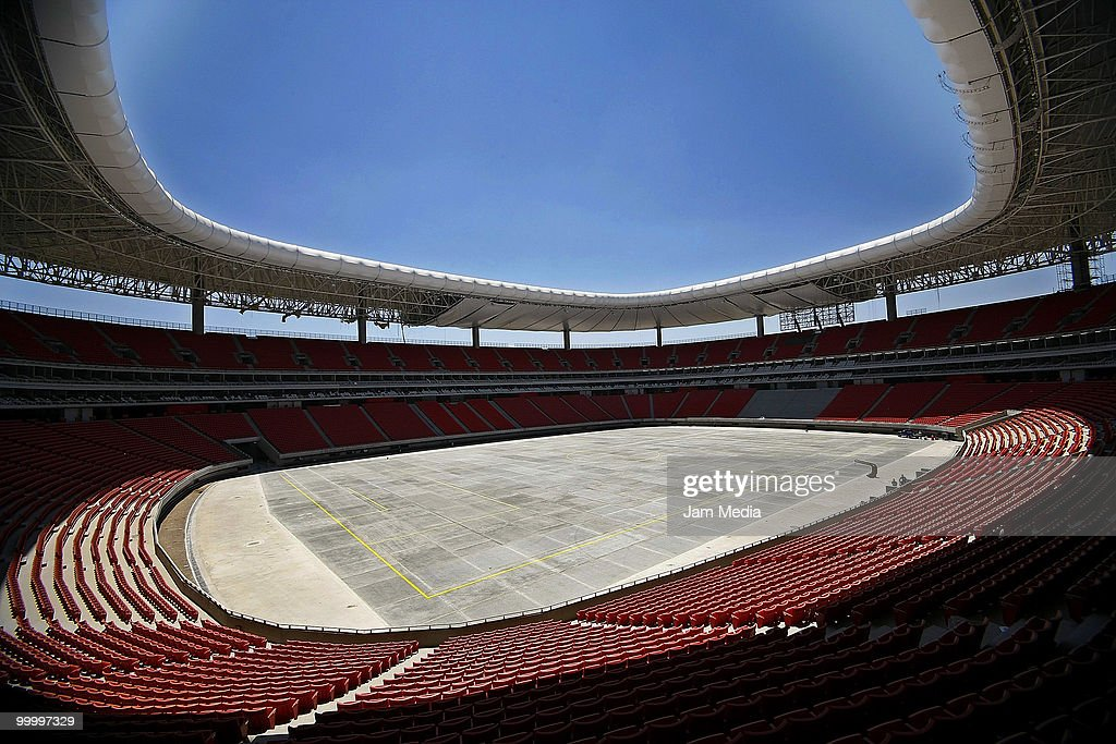 View of the new Chivas Guadalajara stadium under construction on May 19, 2009 in Guadalajara, Mexico.