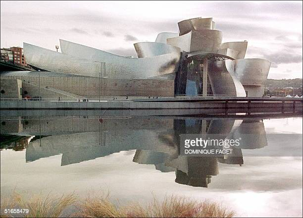 View of the new Guggenheim museum by the river Bilbao 15 October in Bilbao The museum conceived by US architect Frank OGehry is to be inaugurated on...
