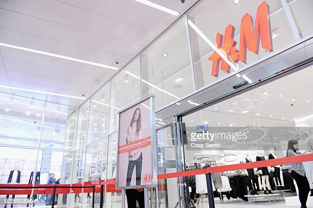 A view of the new HM store during HM and Cara Delevingne to celebrate the opening of a new location at Westfield World Trade Center at HM on November...