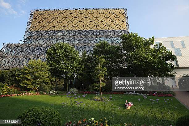 View of the new Library of Birmingham at Centenary Square on August 26, 2013 in Birmingham, England. The new futuristic building designed by...