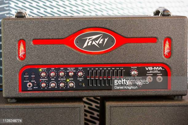 View of the new Michael Anthony Signature Peavey bass head during the 2019 NAMM Show at Anaheim Convention Center on January 26 2019 in Anaheim...