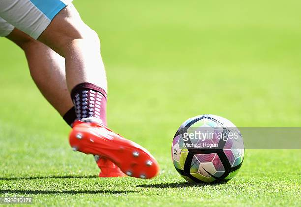 A view of the new Nike Ordem match ball in the warm up prior to the Premier League match between West Ham United and AFC Bournemouth at London...