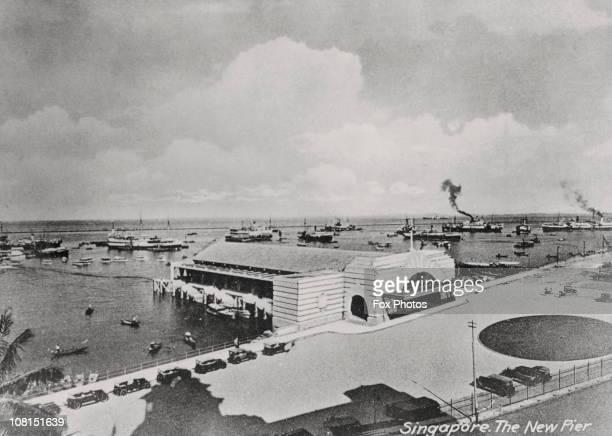 View of the New Pier, Singapore, circa 1925.