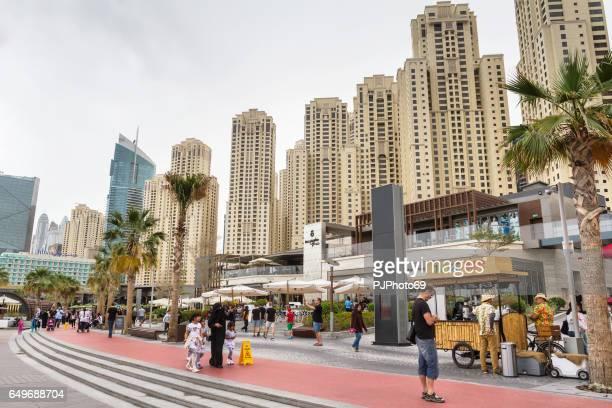 View of the new promenade on Dubai Marina