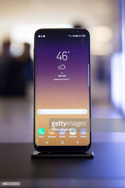 A view of the new Samsung Galaxy S8 at its Samsung launch event March 29 2017 in New York City Following the recall and discontinuation of the...