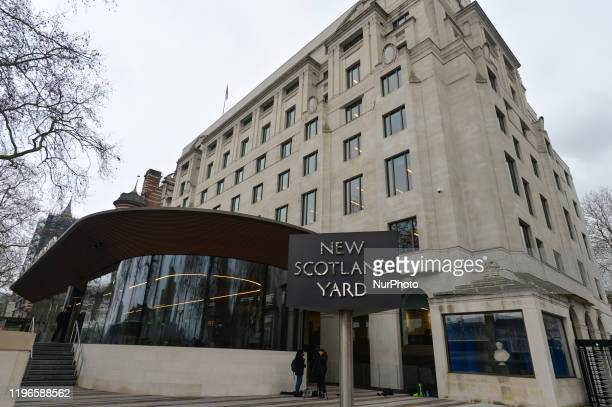 View of the New Scotland Yard office, the headquarters of the Metropolitan Police Service and the Police Community Support Officers. On Thursday, 23...