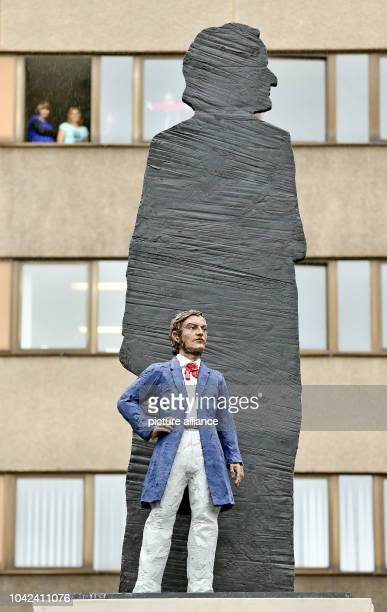 View of the new sculpture of Richard Wagner in Leipzig Germany 22 May 2013 Wagner's native town Leipzig finally recieves a sculpture of Wagner for...