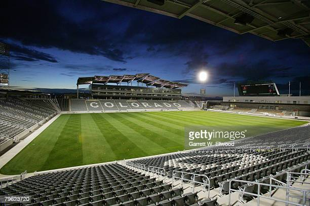 View of the new stadium for the Colorado Rapids on March 20, 2007 at Dick's Sporting Goods Park in Commerce City, Colorado.
