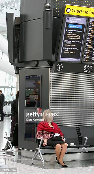 A view of the new Terminal 5 at Heathrow before it's official opening on March 14 2008 in London England