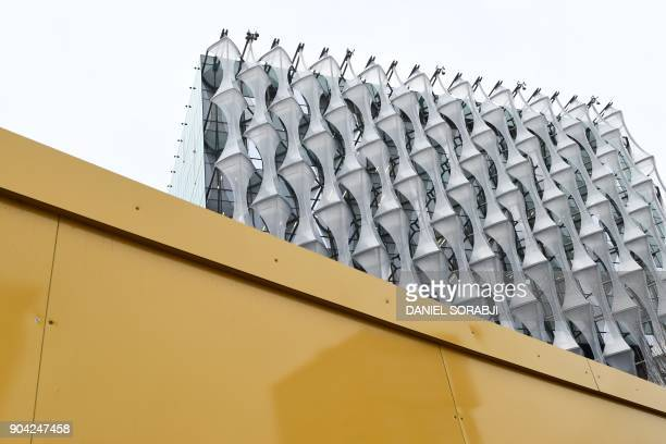 A view of the new US Embassy in Embassy Gardens in southwest London on January 12 2018 US President Donald Trump said today he no longer plans to...