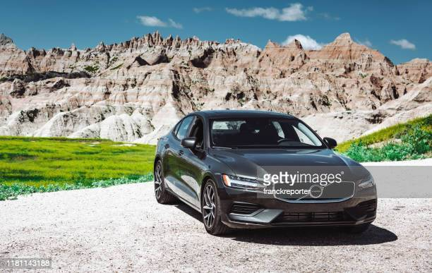 view of the new volvo s60 t6 coupe - volvo stock pictures, royalty-free photos & images