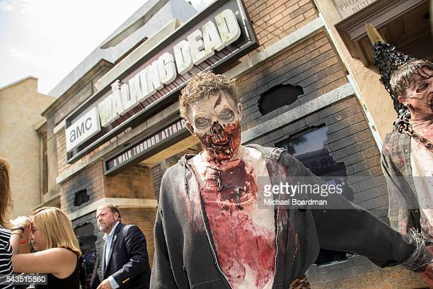 A view of the new Walking Dead attraction 'Don't Open Dead Inside' at the Press Event For The Walking Dead Attraction Don't Open Dead Inside at...