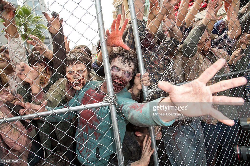 """Press Event For """"The Walking Dead"""" Attraction """"Don't Open, Dead Inside"""" At Universal Studios Hollywood - Arrivals : News Photo"""