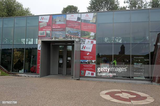 View of the new WW1 Thiepval Visitor and Interpretation museum division opened on the Centenary Of The Battle Of The Somme on June 3, 2016 in...