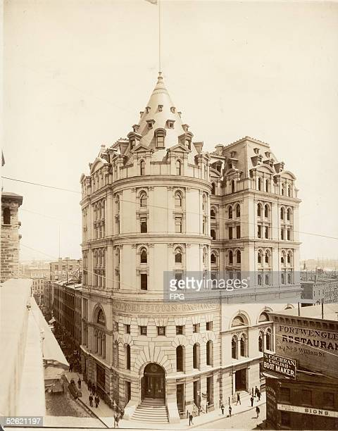 View of the New York Cotton Exchange Building at William and Beaver streets New York New York 1910s