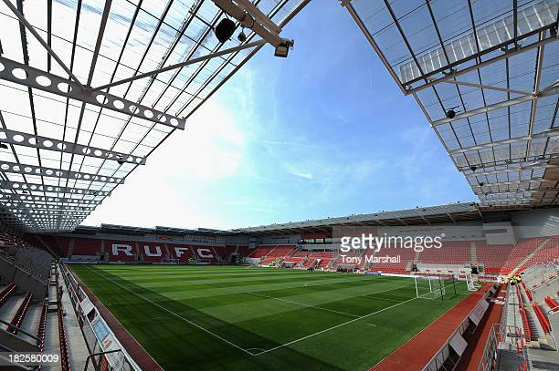 A view of the New York Stadium home of Rotherham United before the Sky Bet League One match between Rotherham United and Peterborough United at The...