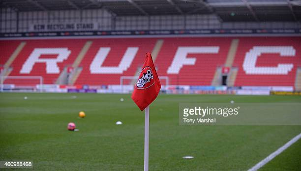 A view of The New York Stadium home of Rotherham United FC before the FA Cup Third Round match between Rotherham United and Bournemouth at The New...